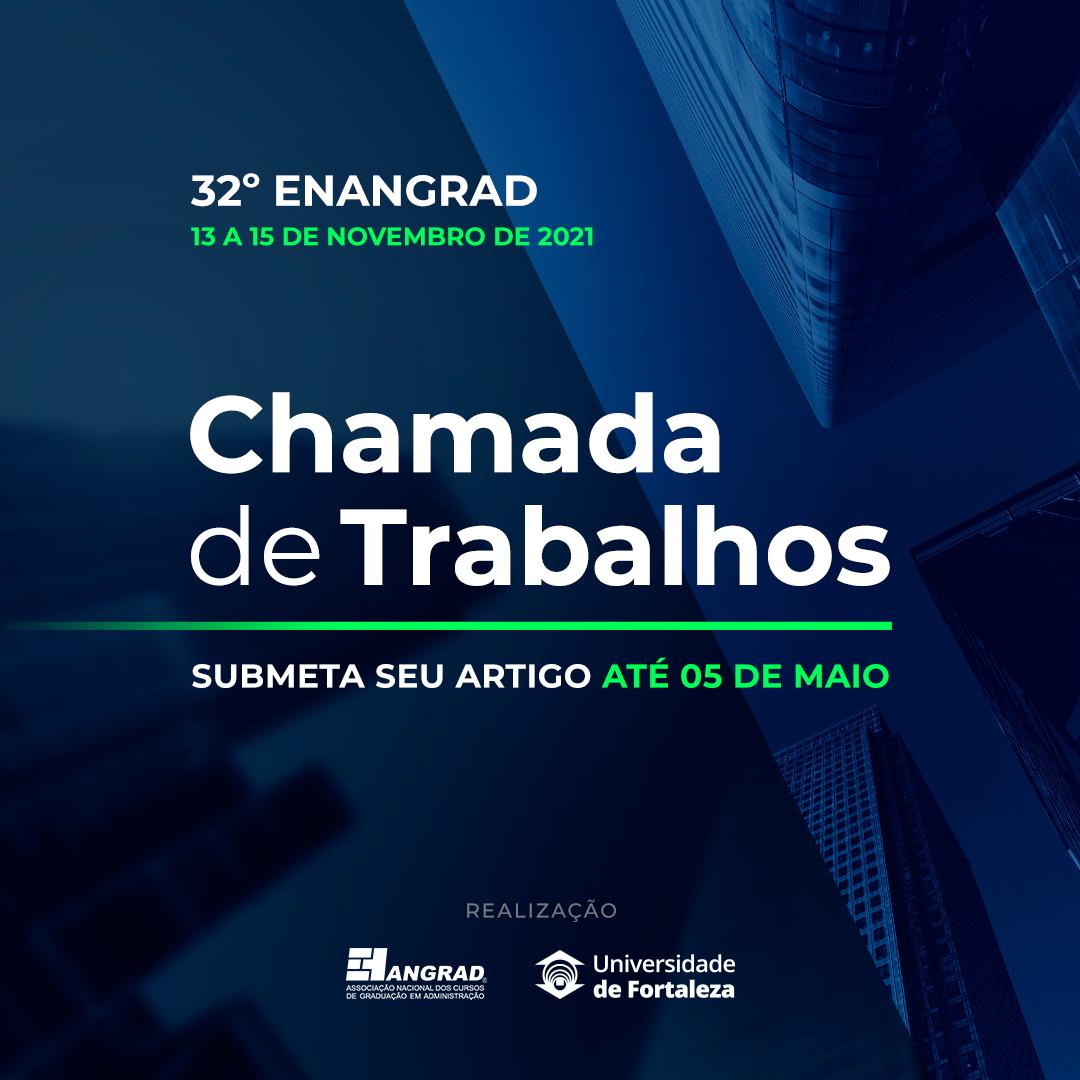 Chamada de Trabalhos do Enangrad aberta até 5 de maio