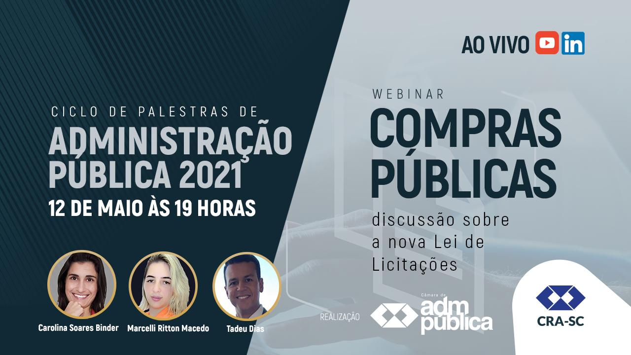 Webinar promove debate sobre os impactos da Nova Lei de Licitações no setor público
