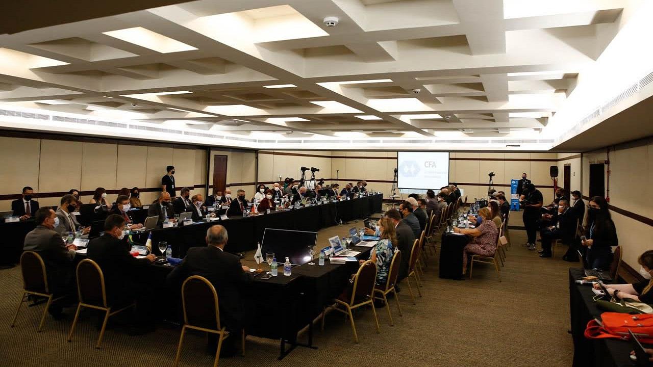 Presidentes e conselheiros federais do Sistema CFA/CRAs reunidos em Brasília