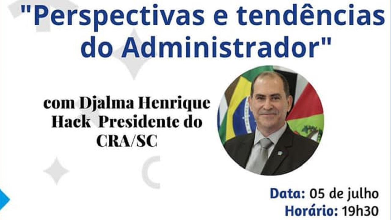 Presidente do CRA-SC participa de seminário on-line