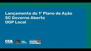 CRA-SC representado no lançamento do 1º Plano de Ação SC Governo Aberto